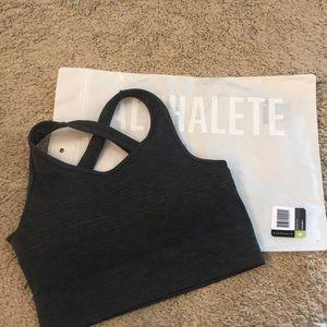 Alphalete revival vault bra - charcoal